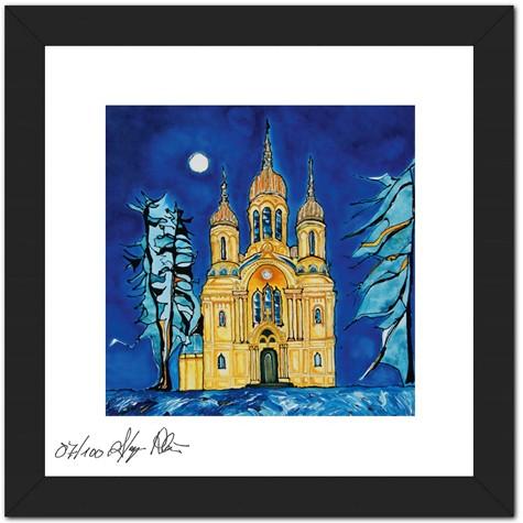 "Mini Sammler Kollektion Hessen - Anette Seyer-Klein - Motiv ""Wiesbaden Russische Kirche"""