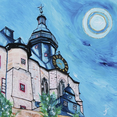 """Marburger Schloss"" - Acryl - Mischtechnik - Anette Seyer-Klein"