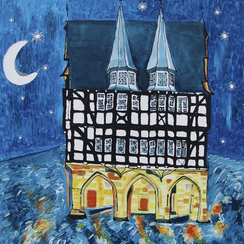"""""""Alsfeld Rathaus"""" - Canvas Print Keilrahmen - Anette Seyer-Klein"""