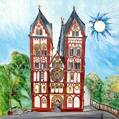 """""""Limburg Dom"""" - Acryl - Mischtechnik - Anette Seyer-Klein"""