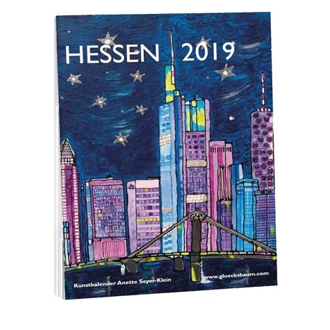Kunstkalender Hessen 2019 - DIN A3 Wand