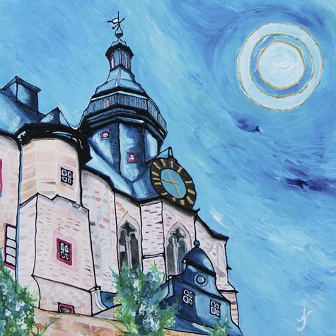 """""""Marburg Schloss"""" - Canvas Print Keilrahmen - Anette Seyer-Klein"""