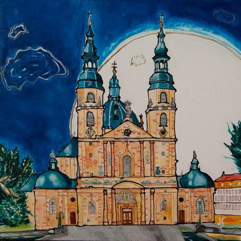 """""""Fulda Dom"""" - Acryl - Mischtechnik - Anette Seyer-Klein"""