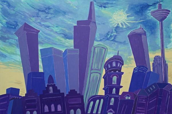 """Blue day"" - Canvas Print Keilrahmen - Anette Seyer-Klein / Rene Bulin"