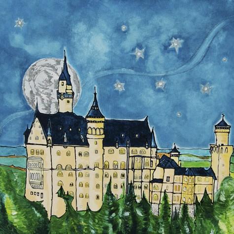 """""""Schloss Neuschwanstein"""" - Canvas Print auf Keilrahmen - Anette Seyer-Klein"""
