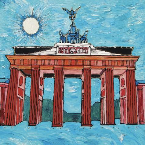 """Berlin Brandenburger Tor"" - Acryl - Mischtechnik - Anette Seyer-Klein"
