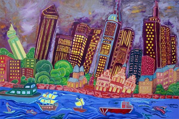 """Violett Groove"" - Canvas Print Keilrahmen - Anette Seyer-Klein / Rene Bulin"